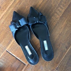 Authentic Prada pointed leather mules